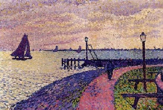 Théo Van Rysselberghe, L'entrée du port de Volendam