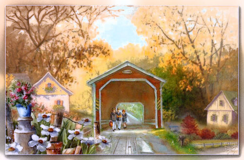 ** Nouveau ** Pont couvert