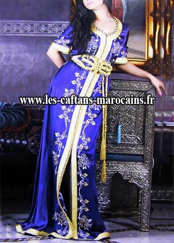 Caftan-marocain-2015-haute couture brode en vente sur mesure et pas cher--KAF-S910