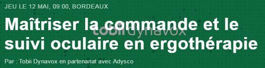 Maitriser la commande et le suivi oculaire (Atelier à Bordeaux le 12 mai 2016)