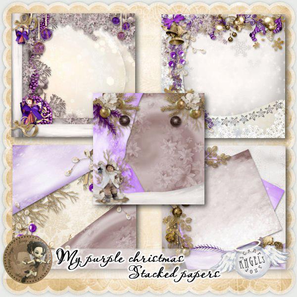 """ My Purple Christmas"" de Scrap'Angie"