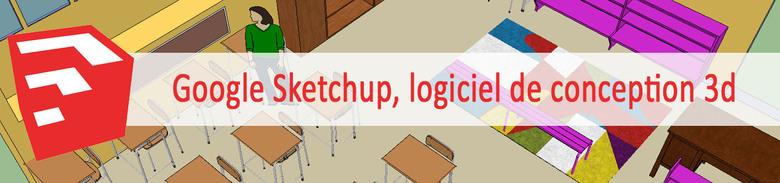 Sketchup:Le plan de la classe avec une salle interactive en 3d!
