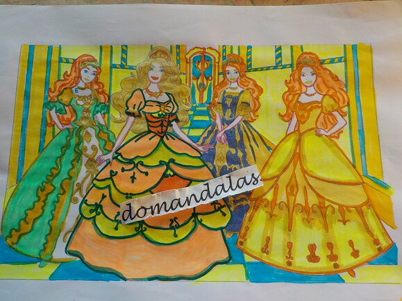 DOMANDALAS  coloriages robes de bal
