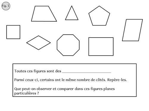 Les quadrilatères - cycle 3