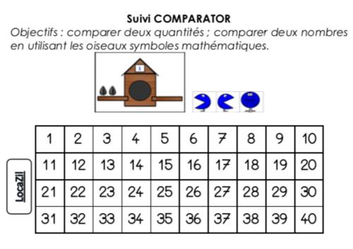 Comparator GS (fiche de suivi)
