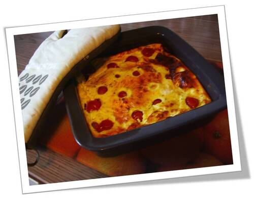 Clafoutis tomate cerise/féta