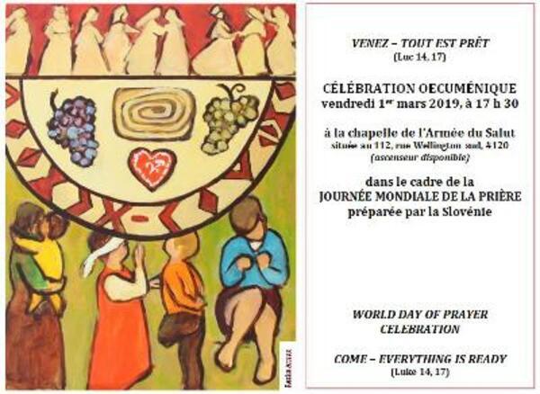 INVITATION Journée Mondiale de Prière