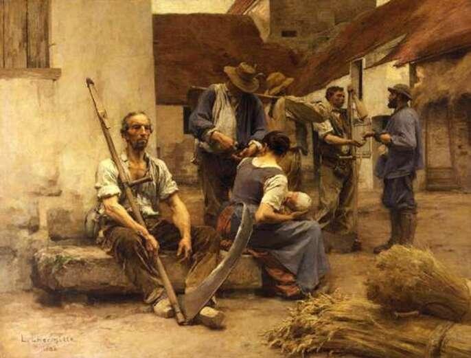 La Paye des moissonneurs- Léon-Augustin Lhermitte-1882