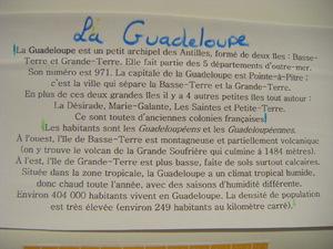 Exposé sur la Guadeloupe