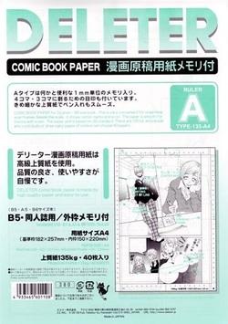 """Utilisation du papier """"comic book"""" Deleter"""