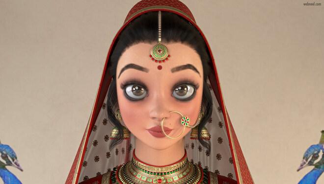 3d model indian girl