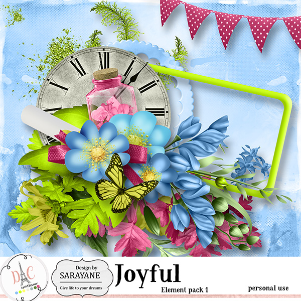 Joyful {PU elements 1} by Sarayane