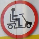Rollstuhlfahren verboten