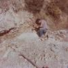 Paroi du ruisseau calcaire a pyrite