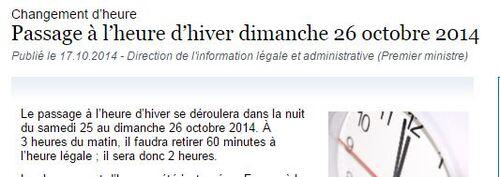 CHANGEMENT d' HEURE  - C'EST L'HIVER 2014