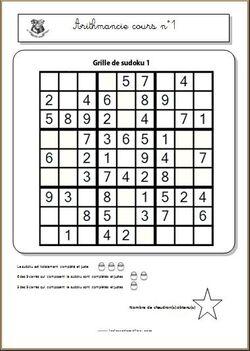 Cours d'arithmancie - sudoku