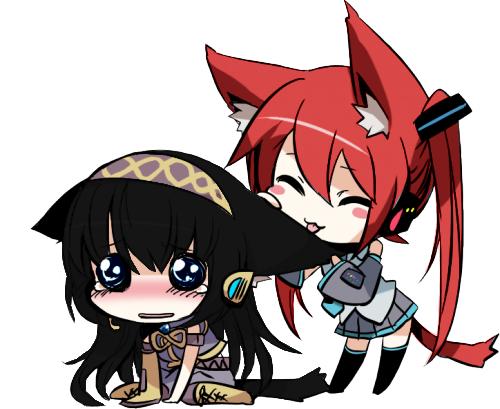 Kistune et Tsuki Neko Girl