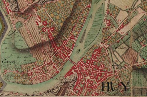 Huy (Carte Ferraris, 1777)(kbr.be)
