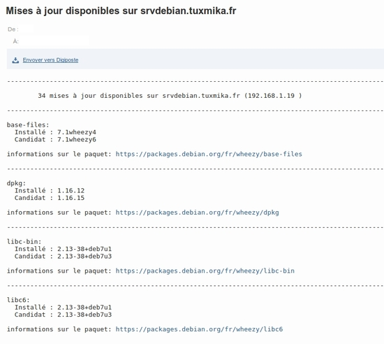 Script de notifications de mise à jour