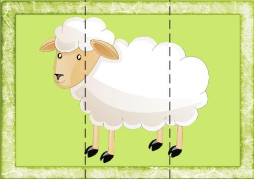 puzzles animaux très simples et zolis