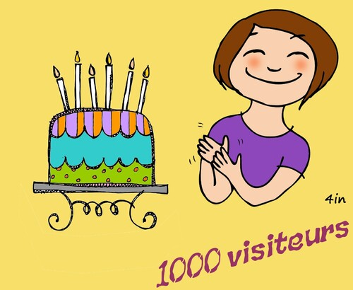 1000 visiteurs!