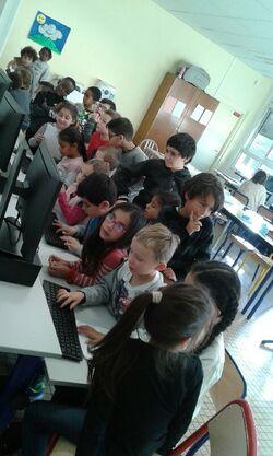 Les élèves de CE1 B et l'informatique