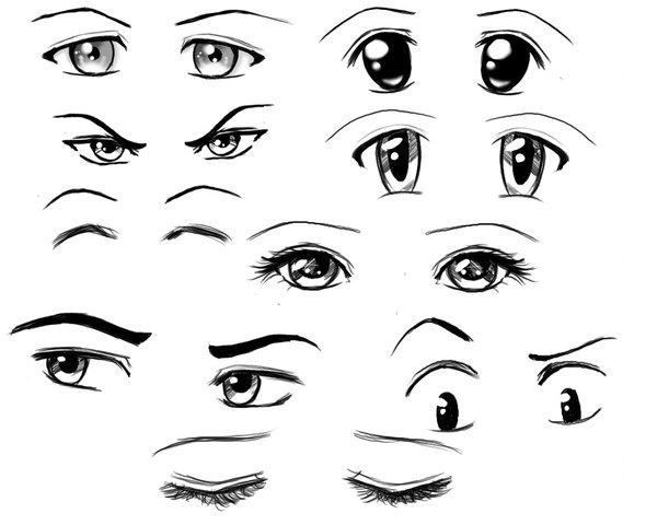 Populaire Yeux et bouches: Tutos - ❤ My Mangas' World ❤ LU42