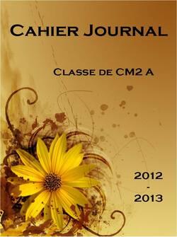 Cahier journal pour l'année 2012-2013