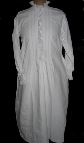 Chemise de nuit en finette blanche 5