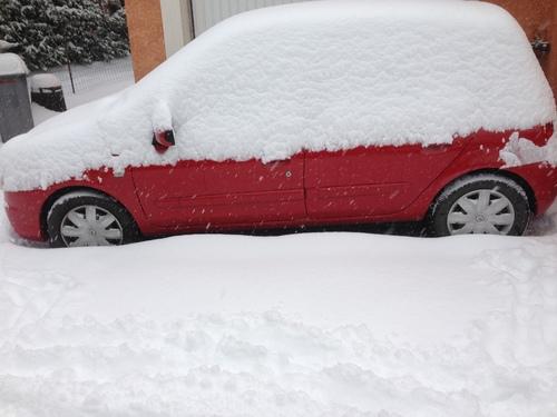 Beaucoup de neige dans le Gard !