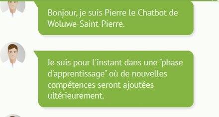 Pierre, l'assistant robot... pas encore au point à Woluwe-Saint-Pierre, notre voisine