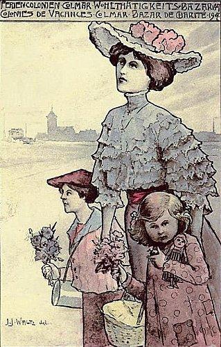 Affiche : Colonies de vacances 1907