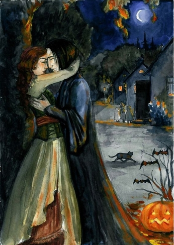 The-Forbidden-Halloween-kiss-harry-potter-16429415-498-700