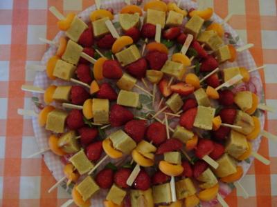 Blog de melimelodesptitsblanpain : Méli Mélo des p'tits Blanpain!, Brochettes de fruits