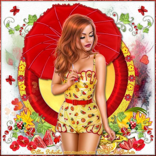 Fruit summer girl