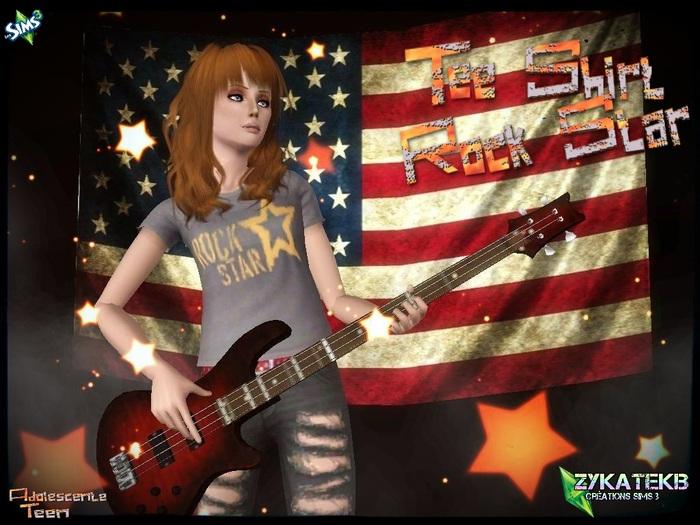 Tee shirt Rock Star