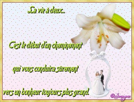 felicitation de mariagevoeux de mariage - Poeme Felicitation Mariage