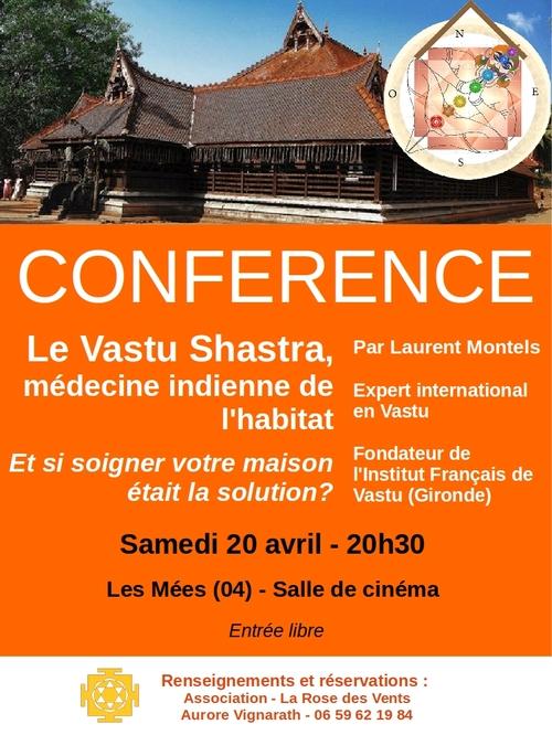 *conférences sur le Vastu - énergie de l'habitat - aux Mées le 20 et Manosque 21 avril
