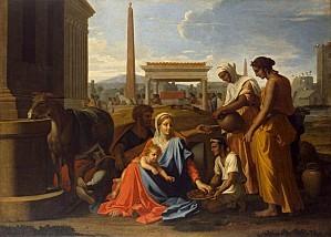 Nicolas Poussin, La sainte Famille en Egypte, 1655-1657, Sa