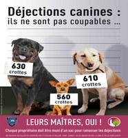 Déjections canines : un rappel utile
