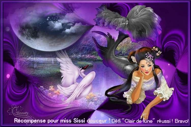 """Maléah et Shanoue votre récompense pour le défi """"Clair de lune"""" ICI**Bravoooo***"""
