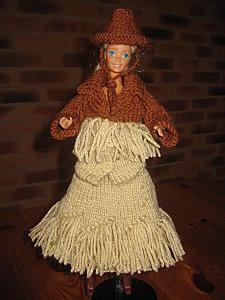 barbie au far west, tuto tricot