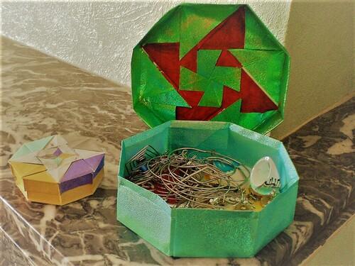 boite octogonal origami