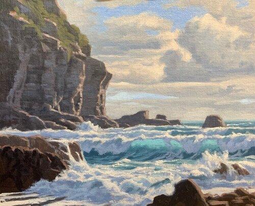 Dessin et peinture - vidéo 3102 : Comment peindre la lumière à travers les vagues ? - huile ou acrylique.