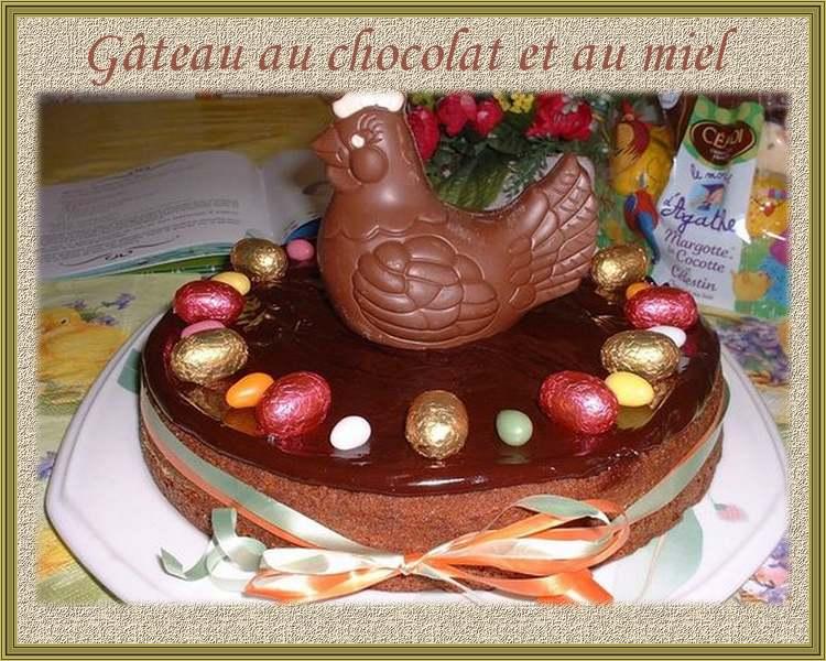 Gâteau au chocolat et au miel