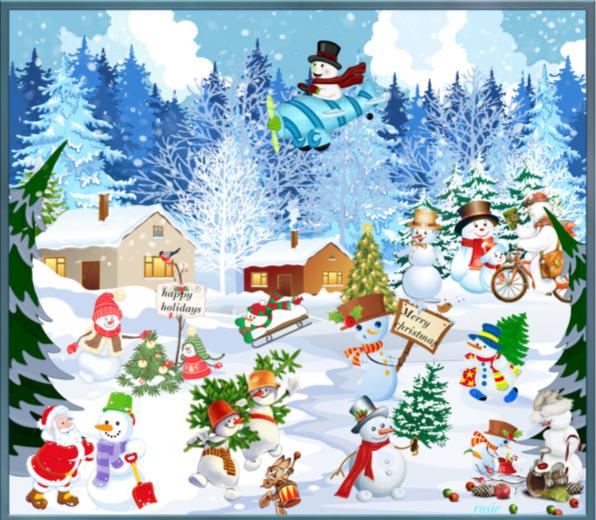 le village des bohommes de neige