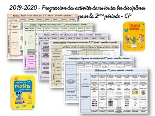 2019-2020 Progressions des activités P2 CP
