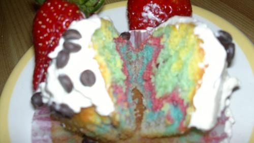 cup cake arc-en-ciel
