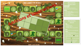 Additions et soustractions de 1 à 5 : jeu - Crocky le crocodile a mal aux dents