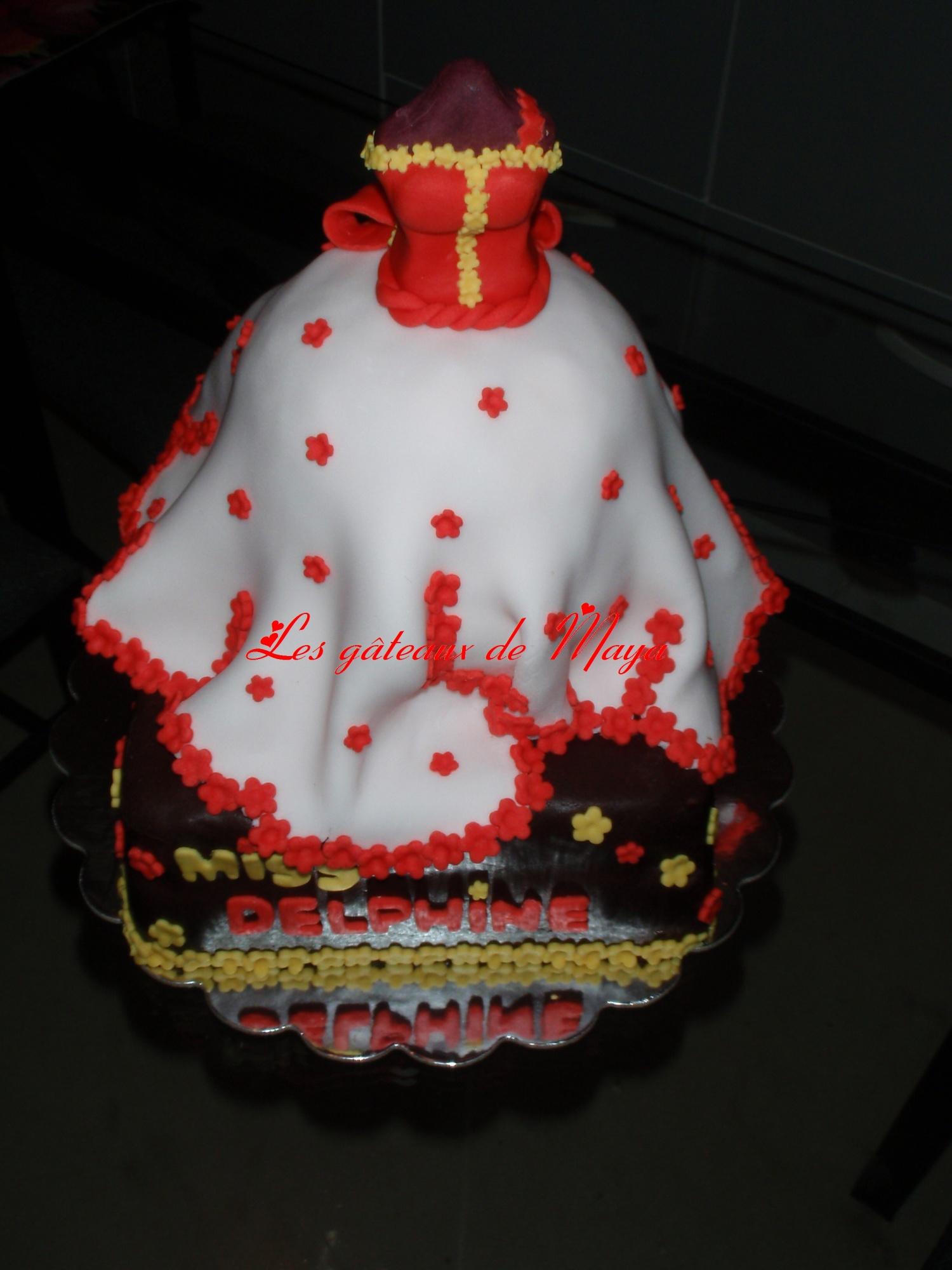 gateau robe de princesse decore en pate a sucre les g teaux de maya. Black Bedroom Furniture Sets. Home Design Ideas